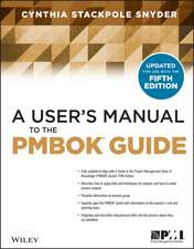 A User′s Manual to the PMBOK Guide