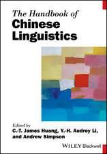 The Handbook of Chinese Linguistics