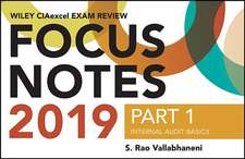 Wiley CIA Exam Review 2019 + Test Bank + Focus Notes: Part 1, Essentials of Internal Auditing Set