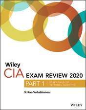 Wiley CIA Exam Review 2020, Part 1: Essentials of Internal Auditing