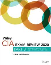 Wiley CIA Exam Review 2020, Part 3: Business Knowledge for Internal Auditing