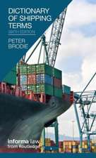 Dictionary of Shipping Terms:  A Kleinian Approach