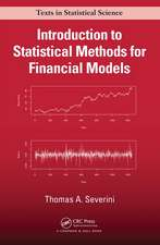 Introduction to Statistical Methods in Finance
