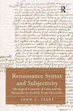 Renaissance Syntax and Subjectivity