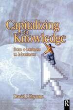 Capitalizing on Knowledge