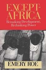 EXCEPT AFRICA REMAKING DEVELOPMENT