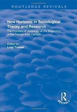 New Horizons in Sociological Theory and Research