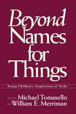 Beyond Names for Things