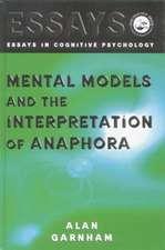 Mental Models and the Interpretation of Anaphora