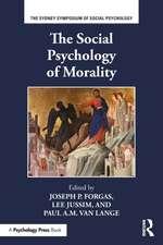 The Social Psychology of Morality