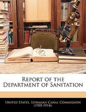 Report of the Department of Sanitation