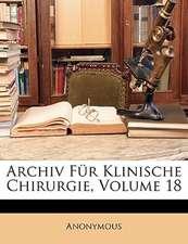 ARCHIV F R KLINISCHE CHIRURGIE, VOLUME 1