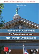 ISE Essentials of Accounting for Governmental and Not-for-Profit Organizations