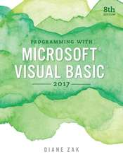 Programming W/Microsoft Visual Basic 2017
