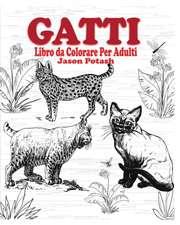 Gatti Libro Da Colorare Per Adulti