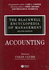 The Blackwell Encyclopedia of Management: Accounting