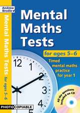 Mental Maths Tests for ages 5-6