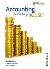 Accounting for Cambridge IGCSE First Edition