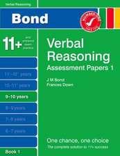 Bond Assessment Papers Verbal Reasoning 9-10 yrs Book 1