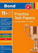 Bond CEM Style 11+ Practice Test Papers 2 - All questions