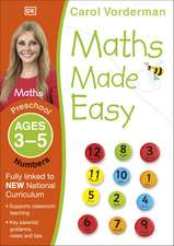 Maths Made Easy: Numbers, Ages 3-5 (Preschool): Supports the National Curriculum, Maths Exercise Book
