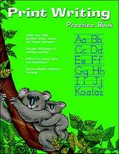 Print Writing Practice Book (Flash Kids Harcourt Family Learning)