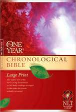 One Year Chronological Bible-NLT-Premium Slimline Large Print