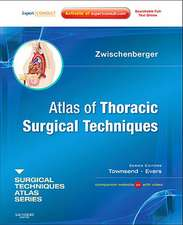 Atlas of Thoracic Surgical Techniques: (A Volume in the Surgical Techniques Atlas Series) (Expert Consult - Online and Print)