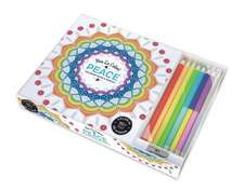 Vive le Colour! Peace (Adult Colouring Book and Pencils)