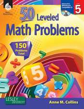 50 Leveled Math Problems, Level 5 [With CDROM]