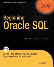 Beginning Oracle SQL