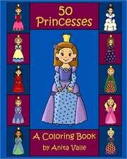 50 Princesses a Coloring Book