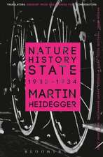 Nature, History, State: 1933-1934