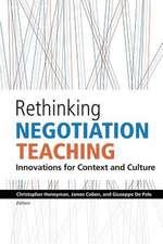 Rethinking Negotiation Teaching