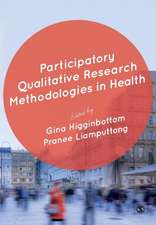 Participatory Qualitative Research Methodologies in Health