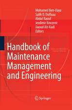 Handbook of Maintenance Management and Engineering