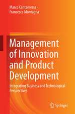 Management of Innovation and Product Development: Integrating Business and Technological Perspectives