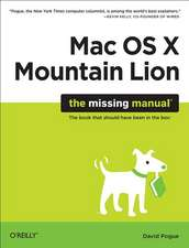 OS X Mountain Lion – The Missing Manual