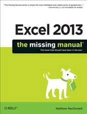 Excel 2013 – The Missing Manual