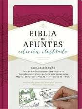 Rvr 1960 Biblia de Apuntes, Edicion Ilustrada, Simil Piel Rosado