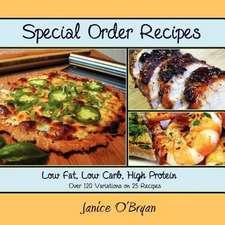 Special Order Recipes