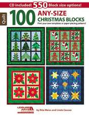 100 Any-Size Christmas Blocks [With CDROM]:  Best of Sew News
