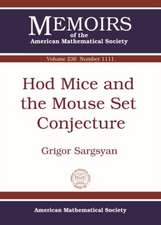Sargsyan, G:  Hod Mice and the Mouse Set Conjecture