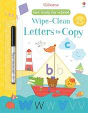 Get Ready for School Wipe-Clean Letters to Copy