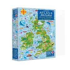 Usborne Atlas and Jigsaw Great Britain and Ireland