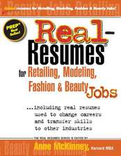Real-Resumes for Retailing, Modeling, Fashion & Beauty Jobs