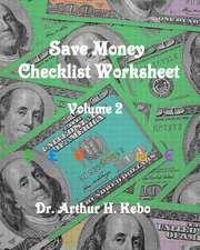 Save Money Checklist Worksheet - Volume 2