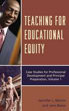 Teaching for Educational Equity