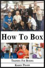 How to Box:  A Boxing and Training Handbook