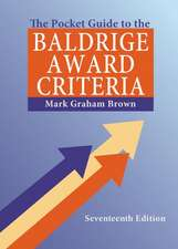 The Pocket Guide to the Baldrige Award Criteria (5-Pack), 17th Edition